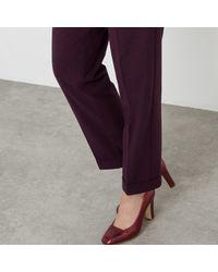 LA REDOUTE - Purple Flannel 7/8 Length Trousers - Lyst