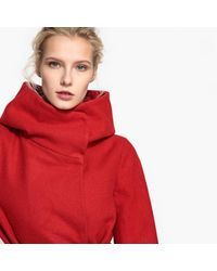LA REDOUTE - Red Coat With Wrap Around Collar - Lyst