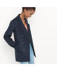 LA REDOUTE - Blue Pea Coat - Lyst
