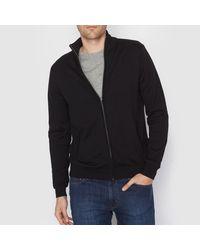 LA REDOUTE | Black High Neck Zip-up Cotton Cardigan for Men | Lyst
