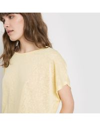 Vila - Yellow Jersey T-shirt - Lyst