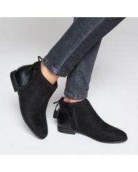 LA REDOUTE - Black Boots Détail Nœud - Lyst