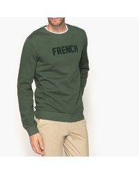 LA REDOUTE - Green Sweat Col Rond À Message for Men - Lyst