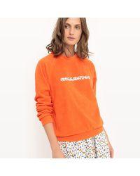 LA REDOUTE - Orange Cotton Crew Neck Sweatshirt - Lyst