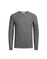 Jack & Jones - Gray Chunky Knit Crew Neck Jumper/sweater for Men - Lyst