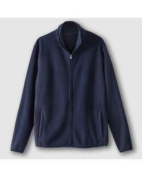 LA REDOUTE | Blue High Neck Zip-up Fleece Sweatshirt for Men | Lyst