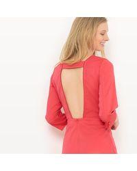 LA REDOUTE - Pink Plunge Back Dress - Lyst