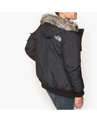 The North Face - Black Hooded Bomber Jacket for Men - Lyst