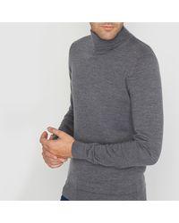 LA REDOUTE - Gray Pullover Mit Rollkragen, Merinowolle for Men - Lyst