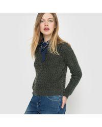 LA REDOUTE - Green Fluffy Jumper/sweater - Lyst
