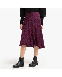 Falda vaporosa estampada TEDDY Ba&sh de color Natural