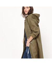 LA REDOUTE - Multicolor Longline Hooded Parka - Lyst