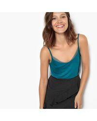 LA REDOUTE - Blue Lace Detail Camisole - Lyst