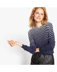 LA REDOUTE | Blue Polka Dot Print Jumper/sweater | Lyst