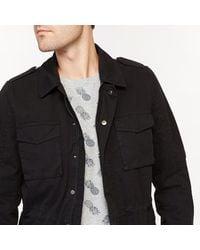 LA REDOUTE - Black Utility Jacket for Men - Lyst