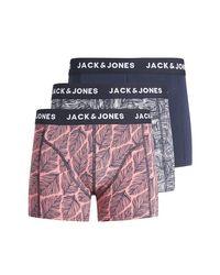 Lote de 3 boxers Jack & Jones de hombre de color Blue