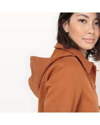 LA REDOUTE - Brown Short Hooded Coat - Lyst