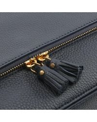 Anya Hindmarch - Blue Vere Maxi Navy Leather Satchel Bag - Lyst