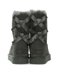 Ugg - Gray Bailey Bow Ii Grey Twinface Boot - Lyst