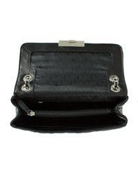 Michael Kors Sloan Large Black Leather Quilted Chain Shoulder Bag Col