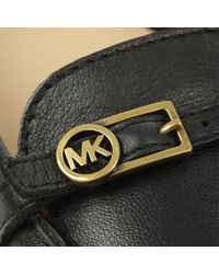 Michael Kors Bryce Black Leather Driving Loafer