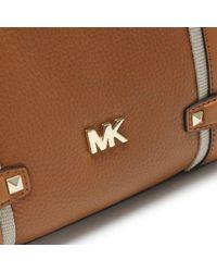 Michael Kors Brown Large Griffin Acorn Leather Satchel Bag