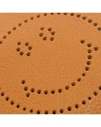 Anya Hindmarch - Brown Smiley Manuka Sugar Leather Cross-body Bag - Lyst