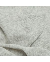 Ugg Gray Luxe Graphite Heather Cashmere Oversized Wrap