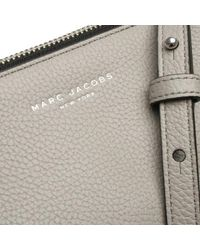 Marc Jacobs - Gray Standard Smoke Grey Leather Cross-body Bag - Lyst