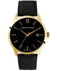 Larsson & Jennings Multicolor Saxon Automatic Ai Black And Gold Mechanical Watch
