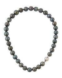 Belpearl - Multicolor 14k Tahitian Pearl Necklace - Lyst