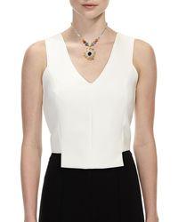 Nakamol - Gray Beaded Agate Slice Pendant Necklace - Lyst