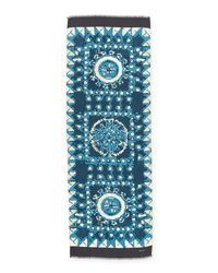 Kiton - Blue Cloud-print Cashmere Scarf for Men - Lyst