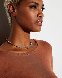 John Hardy Metallic Dot Beaded Wrap Necklace