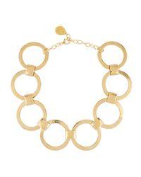 Devon Leigh - Metallic Large Link-chain Statement Choker Necklace - Lyst