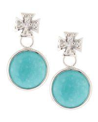 Elizabeth Showers | Blue Maltese Cross & Turquoise Dangle & Drop Earrings | Lyst