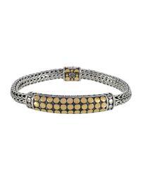 John Hardy - Metallic Dot Gold & Silver Chain Bracelet - Lyst