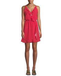 Haute Rogue - Red Donna Polka-dot Sleeveless Dress - Lyst