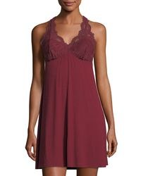 Fleur't - Red Take Me Away Lace Racerback Chemise - Lyst