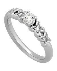 Dior Metallic Estate Platinum Diamond Ring