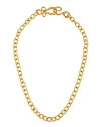 Stephanie Kantis | Metallic 24k Yellow Gold Plated Tudor Chain Necklace | Lyst