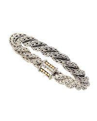 John Hardy | Metallic Triple-twist Gold Dot Chain Bracelet | Lyst