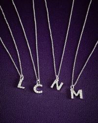 KC Designs | Purple 14k Yellow Gold Diamond Initial & Chain | Lyst