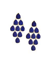 Ippolita - Blue 18k Rock Candy Cascade Earrings In Lapis - Lyst