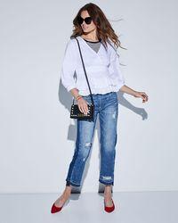 Blank NYC Blue Released-hem Straight Leg Jeans