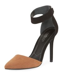 Charles David - Black Pointer Two-tone Ankle Pump - Lyst