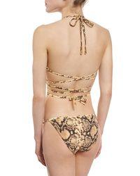 Michael Kors - Multicolor Python-print Wrap Two-piece Bikini Set - Lyst