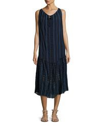 Johnny Was - Blue Eesha Sleeveless Georgette Midi Dress - Lyst