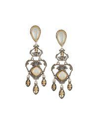 Konstantino - White Erato Labradorite Doublet Chandelier Earrings - Lyst