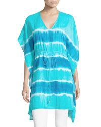 MICHAEL Michael Kors Blue Tie-dye Kimono Tunic